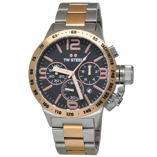 TW STEEL Canteen 45mm Rose Gold plated Chronograph Gents Watch CB133